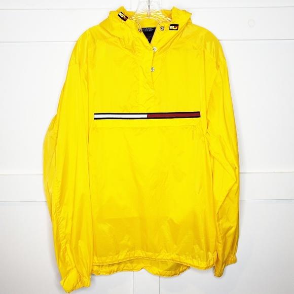 75c87806 Tommy Hilfiger Jackets & Coats | Vtg 2000 Yellow Windbreaker Jacket ...